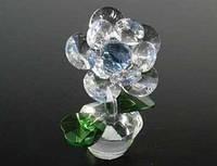 Хрустальный цветок Цветок в горшочке