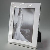 Фоторамка для свадебной фотографии в металлической оправе 10х15 см
