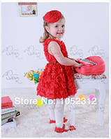 Детское платье в розах для девочки 1-6 лет