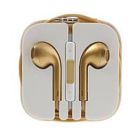 Гарнитура Apple EarPods для iPhone 5, gold