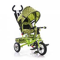 Велосипед трехколесный М 5361-2 зеленый (салатовый) с НАДУВНЫМИ колесами. TURBO Trike.