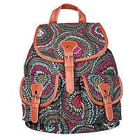 Повседневный рюкзак для девочек с темным орнаментом