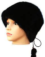 Меховая шапка женская,Альбина (черная)