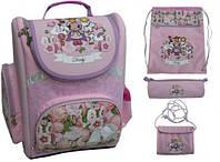 Рюкзак школьный для девочек 4 в 1 Derby 0180129 розовый