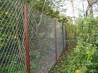 Забор из сетки рабица с установкой