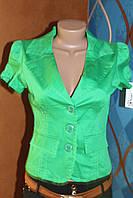 Пиджак ярко-зеленый с коротким рукавом, размеры S,M,L