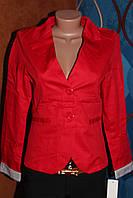 Пиджак ярко-красный с длинным рукавом, размер S