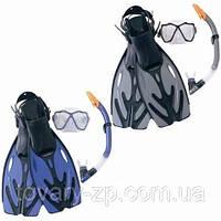 Набор для плавания ласты маска трубка размер 37-42 Bestway 25015