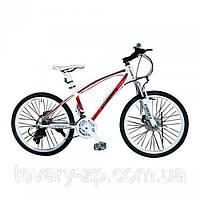 Велосипед спортивный 24 дюйма двухколесный Profi EXPERT красный