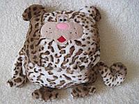 Декоративная интерьерная подушка игрушка тигр с карманом ручная работа