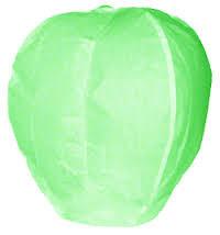 Небесный фонарик купол зеленый