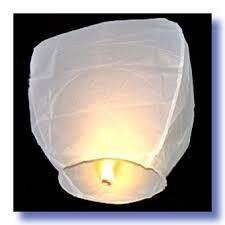Небесный фонарик купол белый