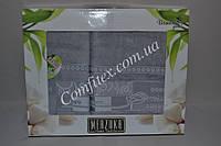"""Комплект махровых полотенец Merzuka Bamboo Gold """"Grey"""" (Баня, лицо) Бамбук - Турция 2140"""
