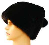 Норковая меховая шапка женская,Зайчик (черный)