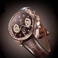Мужские часы Tag Heuer Carrera calibre 17 Rose gold, механика, копия