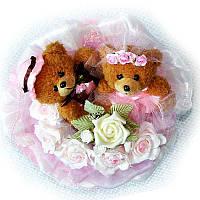 Букет из мягких игрушек Мишки 2 Жених и Невеста