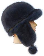 Зимняя меховая шапка ушанка норковая,Зимушка (ирис)