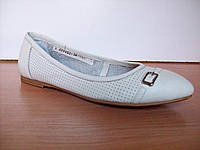 Белые Туфли Avis кожа на низком ходу
