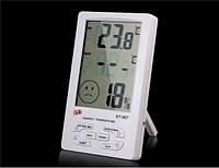 Термометр-гигрометр кт-907, домашняя метеостанция, с выносным термодатчиком, большой дисплей, питание 1*1,5в