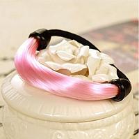 """Женская резинка для волос, аксессуар для прически """"конский хвост"""", резинка из искусственных прямых волос"""
