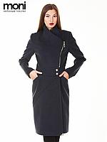Кашемировое черное пальто женское
