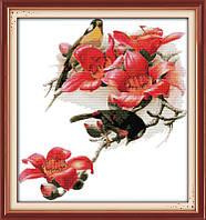 Вышивка крестом Птицы и цветы
