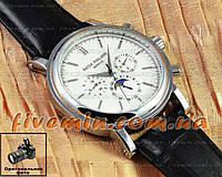 Мужские наручные часы Patek Philippe Grand Complications Perpetual Calendar Chronograph Silver White механика