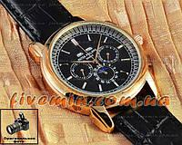 Мужские наручные часы Patek Philippe Perpetual Calendar Chronograph Limited Edition Gold Black Япония