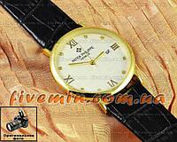 Наручные часы Patek Philippe Quartz Date Gold White Dimond мужские и женские унисекс кварцевые Япония