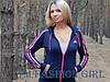 """Женская спортивная кофта Adidas """"Триколор"""" с длинным рукавом, фото 3"""