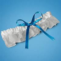Подвязка невесты с голубым бантиком, свадебная подвязка, купить