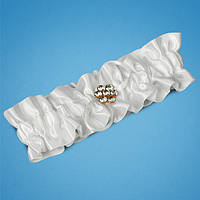 Подвязка невесты с украшением-брошкой, свадебная подвязка, купить