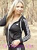 """Женская спортивная кофта Adidas """"Триколор"""" с длинным рукавом, фото 4"""