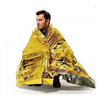 """Спасательное одеяло, покрывало из фольги, термоодеяло """"защита от переохлаждения"""""""