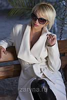 Пальто кашемировое 46 Белый