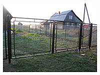 Ворота из сетки-рабица
