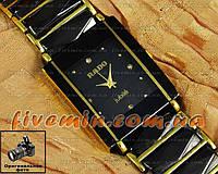 Наручные часы Rado Integral Quartz Black Gold мужские и женские унисекс японский механизм