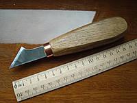Стамеска нож-косяк 45 градусов, 30мм с пяткой