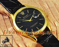 Мужские наручные часы Rolex Oyster Perpetual Calendar с календарем кварцевыя кожа Япония