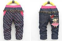 Джинсы для девочки Сердечко, размеры 5 лет