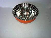 Набор мисок из нержавеющей стали, диаметр 18,20,22,24