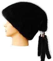 Меховая женская шапка,Козачок2 (черная)