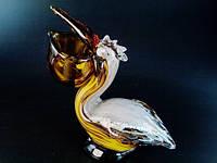 Фигурка Пеликан художественное стекло