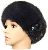Норковая шапка-берет,Москва (ирис)