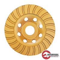 Intertool CT-6215 Фреза торцевая шлифовальная алмазная Turbo 115х22.2 мм (30/1)