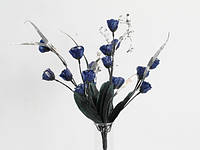 Букет для декора синий