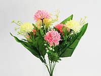Букет из искусственных цветов малиново-розовый
