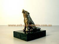 Бронзовая статуэтка Волк, памятный сувенир