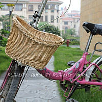 Плетеная корзина для велосипеда