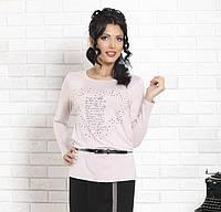 Женская кофточка пудрово-розового цвета с длинным рукавом. Модель Dianna Top-Bis, коллекция осень-зима 2015